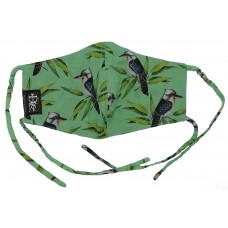 Kookaburra Mint Green Mask With Ties