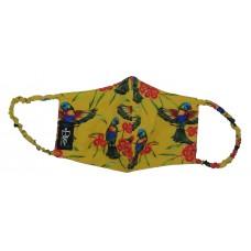 Rainbow Lorikeet Yellow Mask Ear Loop