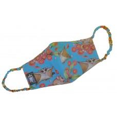 Sugar Glider Turquoise Mask Ear Loop