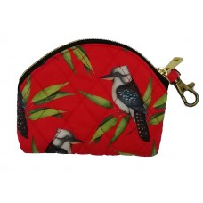 Kookaburra Red Key Pouch