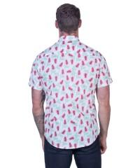 Grevillea White Shirt - Ozzie Men's Short Sleeve Shirt