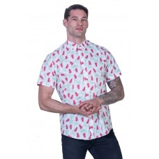 Grevillea White Shirt - Ozzie Men's Short Sleeve Shirt