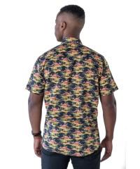 Kangaroo Black Shirt - Ozzie Men's Short Sleeve Shirt