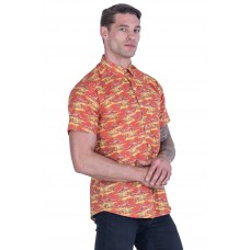 Kangaroo Red Shirt - Ozzie Men's Short Sleeve Shirt