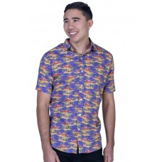 Kangaroo Ultraviolet Shirt - Ozzie Men's Short Sleeve Shirt