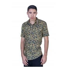Wattle Balck Shirt - Ozzie Men's Short Sleeve Shirt