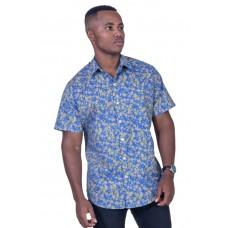 Wattle Blue Shirt - Ozzie Men's Short Sleeve Shirt