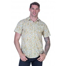 Wattle White Shirt - Ozzie Men's Short Sleeve Shirt