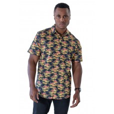 Kangaroo Black Shirt - Ozzie Men's Short Sleeve Shirt