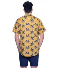 Cassowary Gold Shirt - Ozzie Men's Short Sleeve Shirt