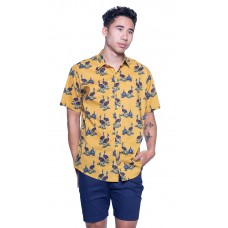 Cassowary Gold Shirt - Ozzie Men's Short Sleeve Shirt