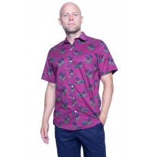 Cassowary Magenta Shirt - Ozzie Men's Short Sleeve Shirt