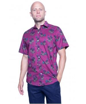 Cassowary Magenta Shirt - Ozzie Men's Short Sleeve Shirt