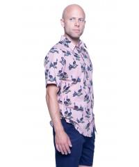 Cassowary Pink Shirt - Ozzie Men's Short Sleeve Shirt