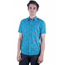 Kangaroo Paw Turquoise Shirt - Ozzie Men's Short Sleeve Shirt