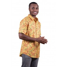 Kangaroo Paw Yellow Shirt - Ozzie Men's Short Sleeve Shirt