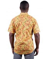 Kangaroo Paw Yellow Shirt - Ozzie Men's Short Sleeve Shirt