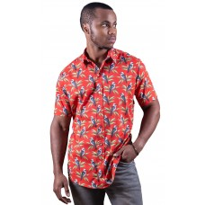 Kookaburra Red Shirt - Ozzie Men's Short Sleeve Shirt