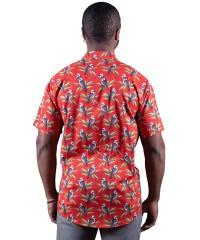 Kookaburra Red Shirt - Ozzie Men's Short Sleeve Shirt