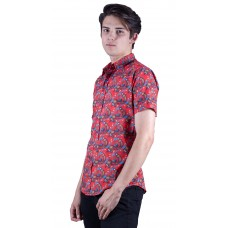 Platypus Red Shirt - Ozzie Men's Short Sleeve Shirt