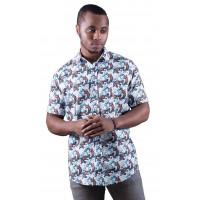 Platypus White Shirt - Ozzie Men's Short Sleeve Shirt