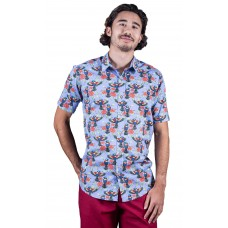 Rainbow Lorikeet lavender Shirt - Ozzie Men's Short Sleeve Shirt