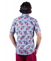 Rainbow Lorikeet lavender Shirt - Ozzie Men's Short Sleeve Shirt