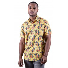 Rainbow Lorikeet Yellow Shirt - Ozzie Men's Short Sleeve Shirt