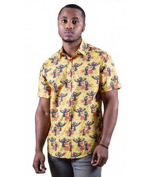 Rainbow Lorikeet Yellow Shirt - Ozzie Men's Short Sleeve Shirt