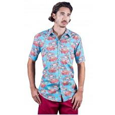 Sugar Glider Turquoise Shirt - Ozzie Men's Short Sleeve Shirt