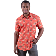 Emu Simpson Desert Red Shirt - Ozzie Men's Short Sleeve Shirt