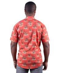 Emu Simpson Desert Red Shirt - Ozzie Men's Short Sleeve Shirt