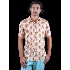 Emu Dusty Pink Shirt - Ozzie Men's Short Sleeve Shirt