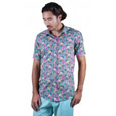 Wombat Pink Shirt- Ozzie Men's Short Sleeve Shirt
