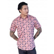 Magpie Coral Pink- Ozzie Men's Short Sleeve Shirt