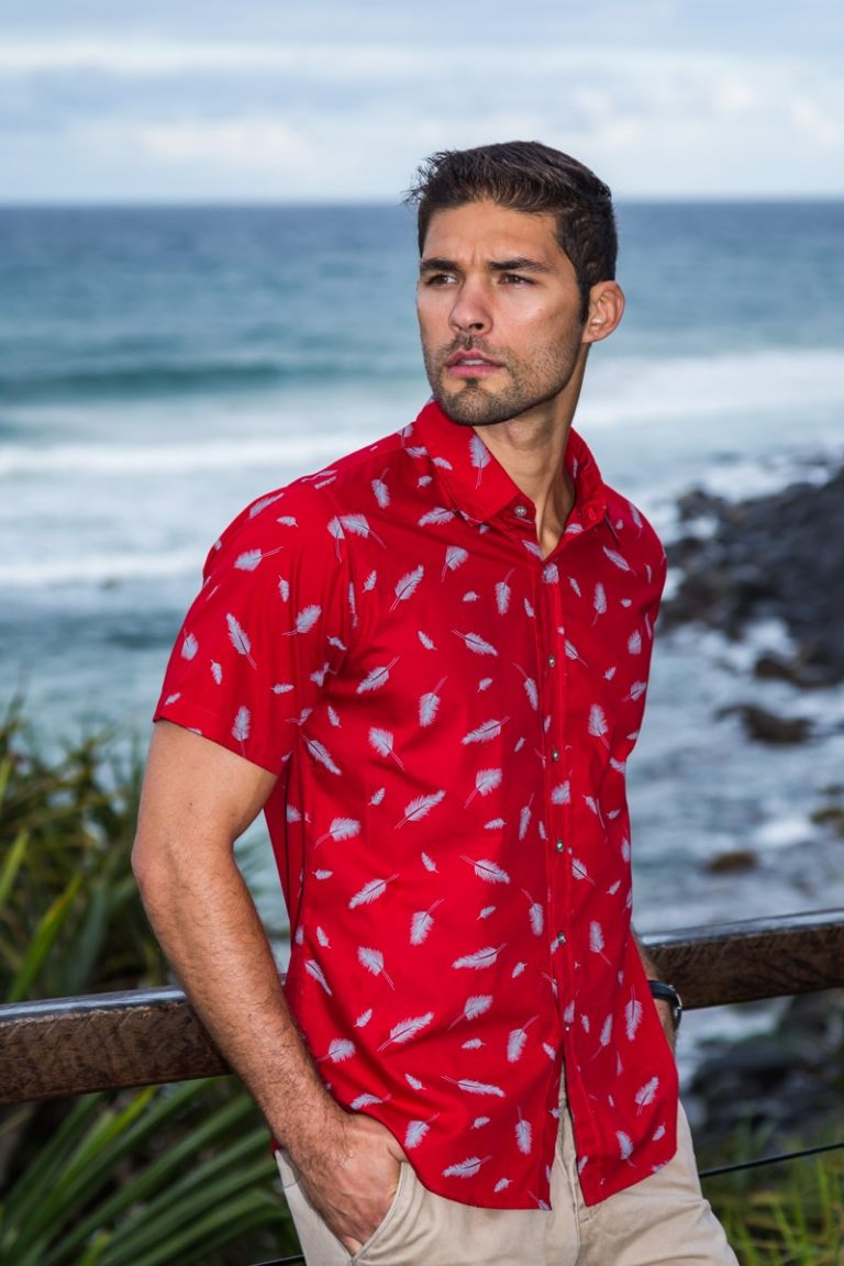 Feather Red Shirt